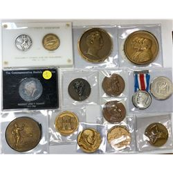 WORLDWIDE: LOT of 22 diverse medals, retail value $700