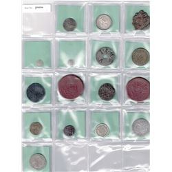 WORLDWIDE: LOT of 16 diverse coins and exonumia, retail value $450