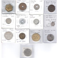 WORLDWIDE: LOT 15 African and Asian coins, retail value $550