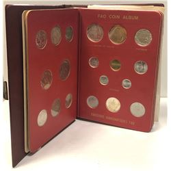 WORLDWIDE: LOT of 52 total coins; FAO coin set of 52 uncirculated coins in 6 page album