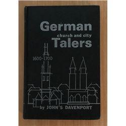 Davenport, John S. German Church and City Talers, 1600-1700