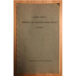 Kann, Eduard. Chinese Paper Money; Parts I, II, III