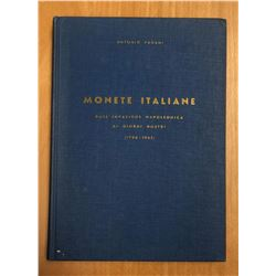 Pagani, Antonio. Monete Italiane - Dall'invasione napoleonica ai giorni nostri 1796-1963