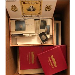 Various, LOT of personal papers, coin photos, articles, file folders a wide range of topics