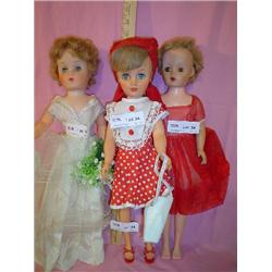 3  Lady Dolls  1 Bride 2 in Red
