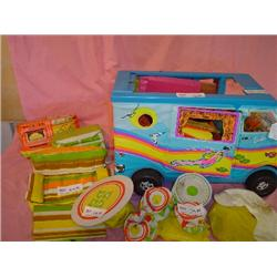 Barbie Beach Bus by Mattel & Furniture