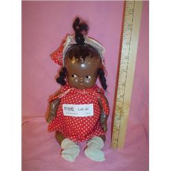 Vintage Afric Amer Compos Doll MT