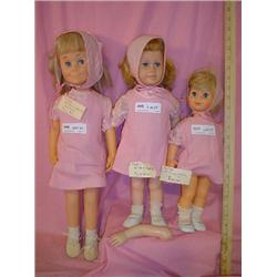 Chatty Dolls 3 by Mattel  WOW LOOK