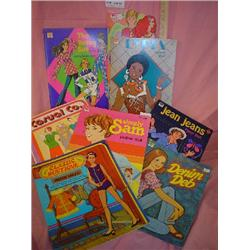 Tray of Paper Doll Books  Like New