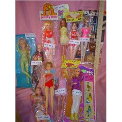 Box of 10 Barbie Copies Dolls MT