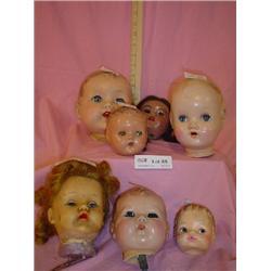 7 Doll Heads Horsman  Ideal MF American