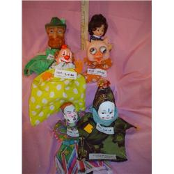 Tray of 6 Unique Hand Puppets