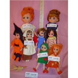 Tray of 8 Dakin Dolls MT