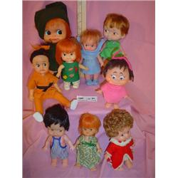 9 Rubber or Plastic Dolls Some Dakin