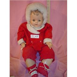 Doll Cloth Stuffed w  compo.head