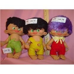 3 Unica Belgium 1965 Vinyl Dolls
