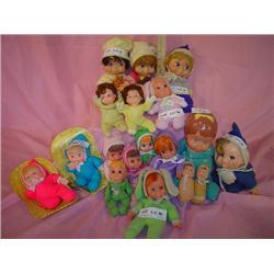 18 Cloth Stuffed & Latex Dolls MT