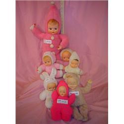 7 Stuffed Body Dolls w Latex heads