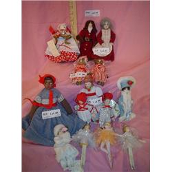 Fancy Dolls Porcelain Cloth Ballerinas
