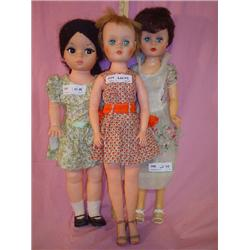 3 Tall Teen Dolls PM Sales Inc 1966