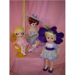 3 Dolls Musical & Eegee Flowerkins 1963