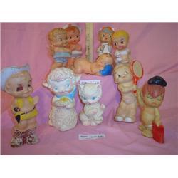 Tray of 10 Assort vinyl Squeaky Dolls