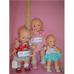 3 Kewpie Dolls by Cameo MT