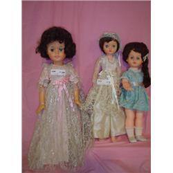 3 Dolls Tall Doll Eegee 25 Wig over Hai