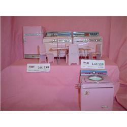 Pink Metal Kitchen Furniture Fridge Sin