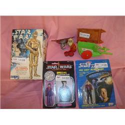 Star Trek Star Wars Action figures w Ac
