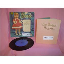 Saranade Doll Hi Fi 33 record/baby book