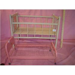 Baby Doll Beds Wood Crib Metal Amsco Be