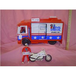 Evel Knievel Van Doll Motorcycle Ideal