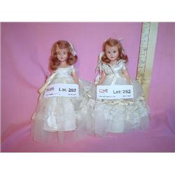2 Plastic Nancy Ann Storybook Dolls