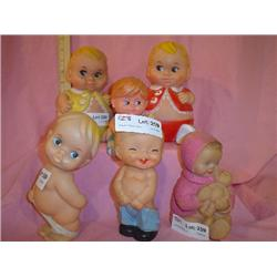 Vinyl Boy Dolls 2 Large ones1967