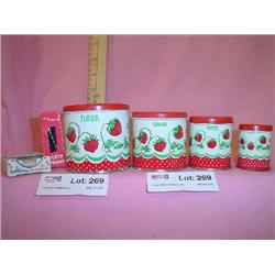 Collectable Strawberry Tins Straws