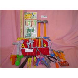 Box of Plastic & Rubber Play Tools