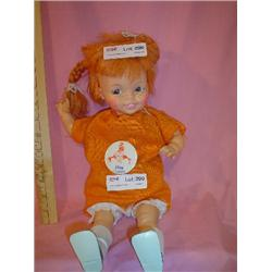 Pippi Longstocking Doll w Button