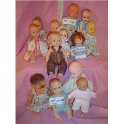 13 Small Plastic Dolls  Boys & Girls