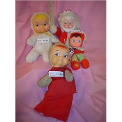 4 Stuffed Dolls w Vinyl Faces MT