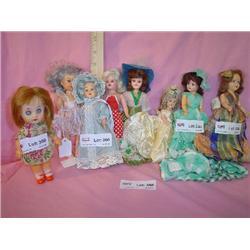 11 Small Plastic Boy & Girl Dolls