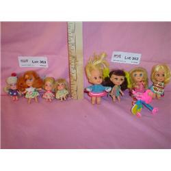 8 Dolls Liddle Kiddles Kiddle Trike Mat