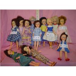 Tray of 12 Vinyl Plastic Dolls MT