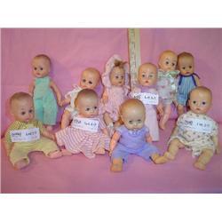 Box of 10 Little Dolls 9 Boys 1 Girl