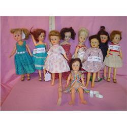 9 Fancy-Dressed Fashion Teen Dolls.