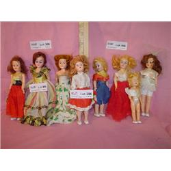 Tray of 8 Fancy Dressed Dolls MT