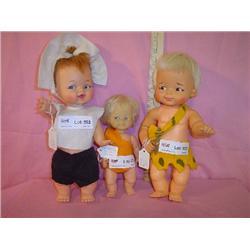 Pebbles & Bamm Bamm Dolls Ideal.