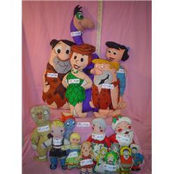 Cloth Dolls Flintstones  Santa Claus