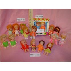 Tray of 17 MiniKids Tiny Dolls MT