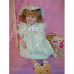 Vintage Doll Cloth Stuffed Miles City M